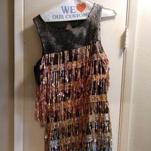 Dolls Kill Sequin Fringe Dress